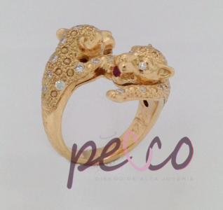 anillo pantera tigre oro joyeria joyas bogota personalizadas