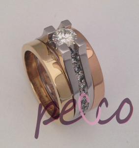 argolla doble para encagar en dos oros joyas bogota personalizadas