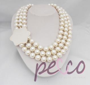 collar de perlas largo y corto, en plata aniversario regalo mama madres