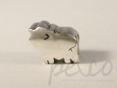 TORO – ABUNDANCIA, GANADO piezas macizas elaborados plata 950 Bogota
