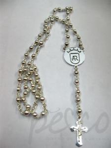 Rosario personalizado en plata para hombre Bogota