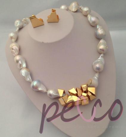 7e148cdf38c3 collar y aretes de perlas naturales plata joyas aniversario mama suegra