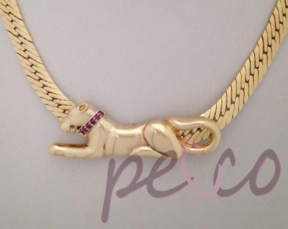 c2e1f4216d77 garagntilla gato felino pantera oro joyeria personalizada