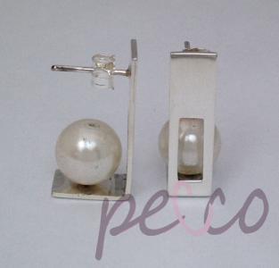 artes con perlas, aretes de perlas bogota, aretes con plata y perlas