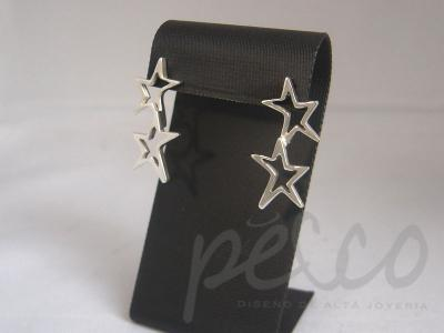 Aretes estrellas s en plata joyeria alta calidad